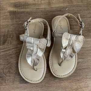 Cat & jack gold sandals little girls size 9